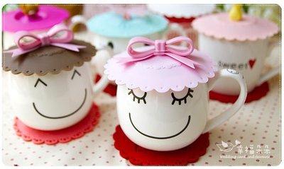 幸福朵朵【收藏幸福.杯蓋杯墊組禮盒】-姐妹/伴手禮/工商贈品/來店禮/婚禮小物