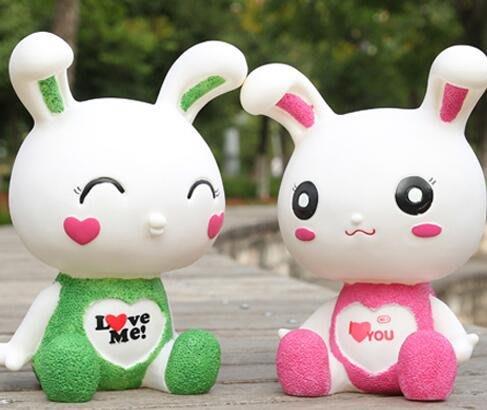 小花花精貨店-大號兔子存錢罐 韓國創意可愛小兔子兒童儲蓄罐儲錢罐送女生禮物#存錢罐