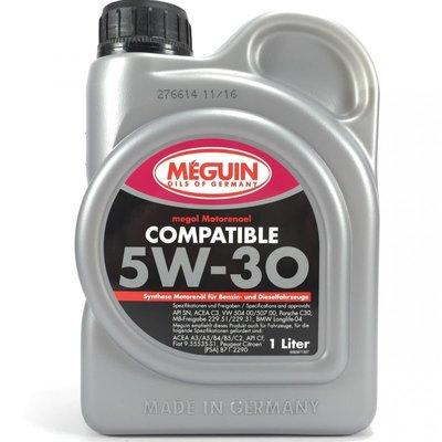 [機油倉庫]附發票MEGUIN COMPATIBLE 5W-30 5W30合成機油 NO.6561