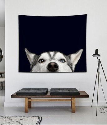 加絨 床 頭墻壁裝 飾掛毯壁 面掛布桌 布隔斷掛 簾背景布 INS北 歐墻布