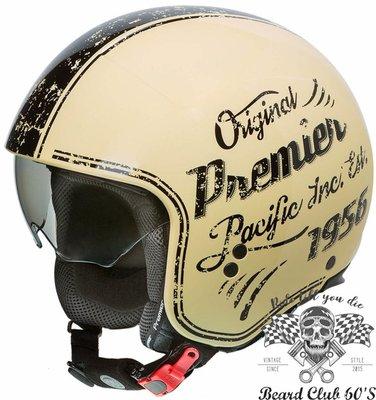 ♛大鬍子俱樂部♛ Premier ® Rocker OR 義大利 原裝 復古 哈雷 偉士牌 都會 Jet 安全帽 米白