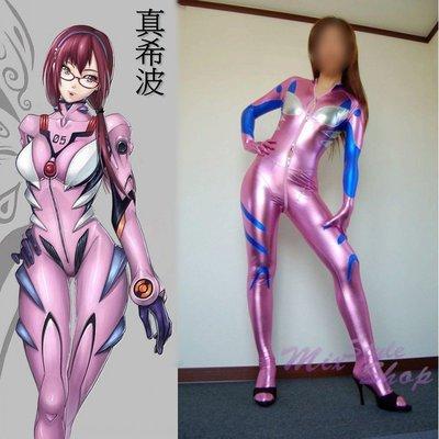MIX style SHOP【S-371】日本製品❤新世紀福音戰士《真希波》造型金屬光澤亮面服裝/角色扮演緊身衣