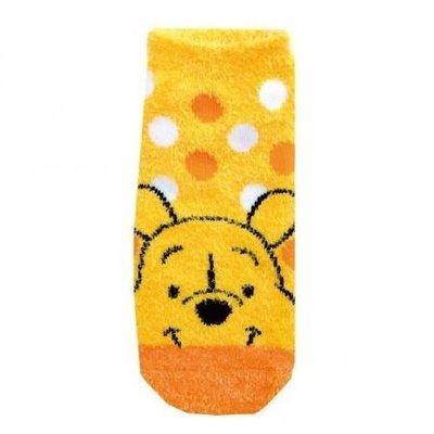 ☆彩虹棉花糖☆ 款@  Disney 迪士尼 小熊維尼 蜜糖維尼 Pooh 毛茸茸 保暖短襪 襪子