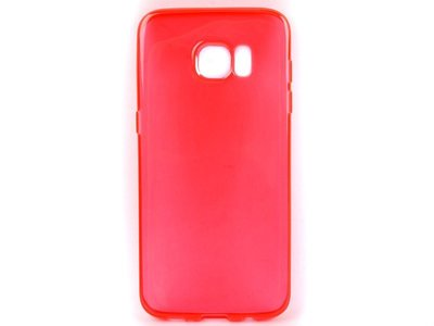 [GIFUTO] Samsung Galaxy S7 Edge TPU磨砂半透明保護套 軟殼 果凍套 – 透紅