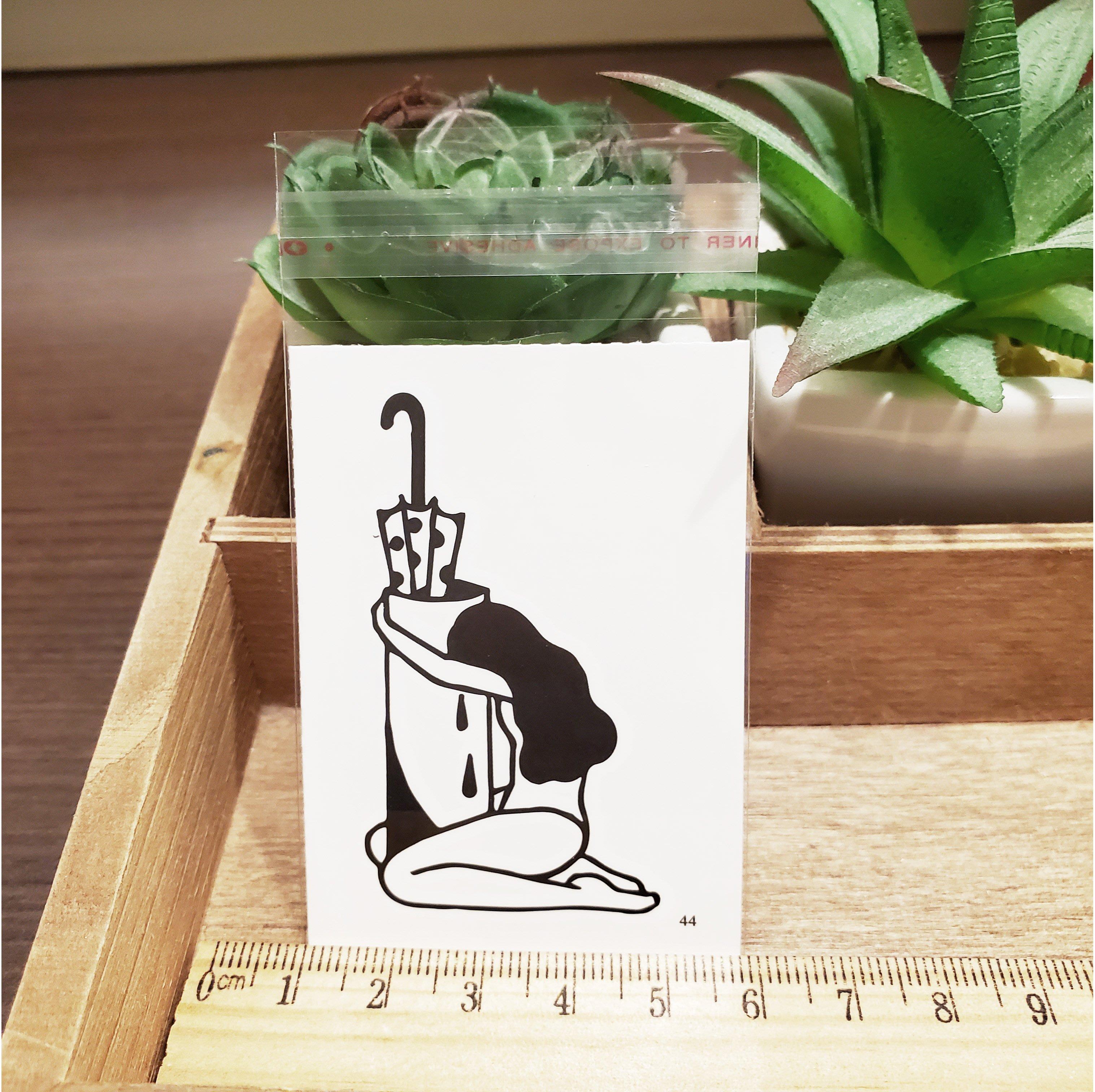 【萌古屋】百態人生44單圖 - 男女防水紋身貼紙刺青貼紙 K43