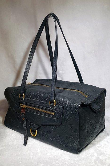 *旺角名店* LV ㊣ M93415 藍黑色全牛皮家徽壓紋 empreinte 手提 肩背 方形 購物包