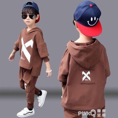 男童春秋裝套裝2019新款兒童6韓版連帽T恤8兩件套洋氣10歲運動男孩潮 免運