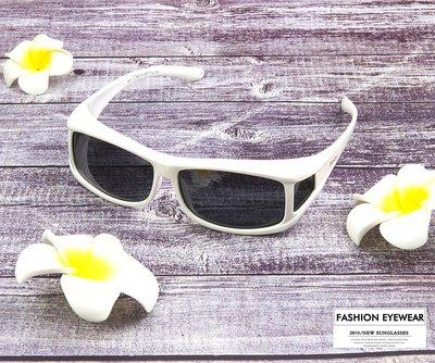 (滿800免運)911白框偏光太陽眼鏡加大包覆式套鏡近視眼鏡老花眼鏡可戴UV400抗紫外線防眩光台灣製造運動眼鏡
