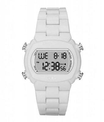 【adidas - ADH 6500】100%全新正品 輕量化 運動型 電子錶 名錶 手錶 / 白色【防水50米】56g