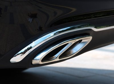 ~歐力車飾~賓士 BENZ W205 C180 C200 C250 C300 排氣管 排氣管飾框 尾飾管 四出 尾管裝飾 新竹市