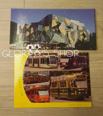 ├1979雜貨舖┤~『澳洲 墨爾本/Melbourne Trams/Federation Square 明信片』