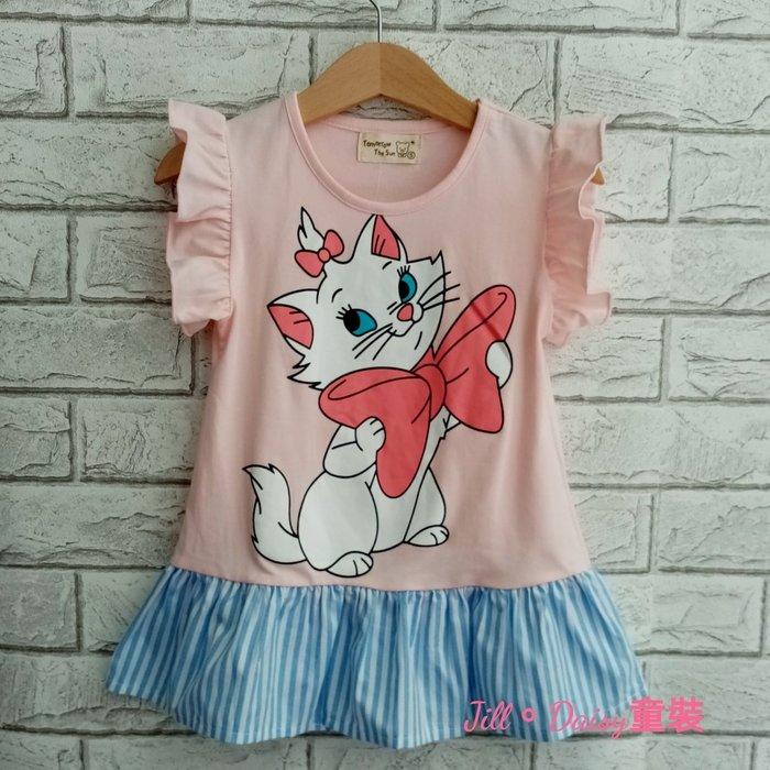 Jill。Daisy童裝 小童瑪莉貓拼接長版衣 洋裝 (ZT029)