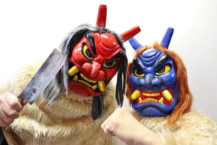 【beibai不錯買】派對道具 變裝 搞笑面具 整人玩具 日本手製 日本進口 青鬼面具 赤鬼面具