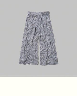 《Cupio》現貨 Abercrombie A&F Audrey Gaucho Pants 幾何圖騰舒適褲裙(S)