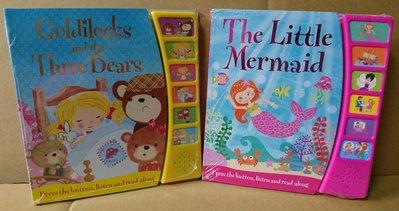 全新金髮女孩和三隻熊, 小美人魚, 全英文學習有聲書 兒童有聲書 適用年齡三歲以上,任選每本售價$280