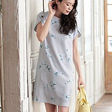 31 Sons de mode Watercolor light purple floral One piece Dress 水彩印花淡紫色花瓣袖連身裙