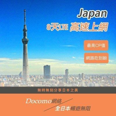 YOYOSim 日本上網卡  DOCOMO日本上網 日本網路卡 無限上網 4G 東京 旅遊 關西 沖繩 大阪