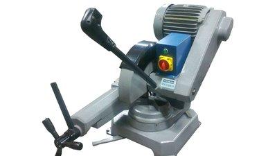金工切割機金屬鋁擠型鋁材不鏽鋼白鐵塑鋼電木圓鋸機330型砂輪切割機鋸片切割角度大馬達及固定夾具都可轉動調整6HP富上機械