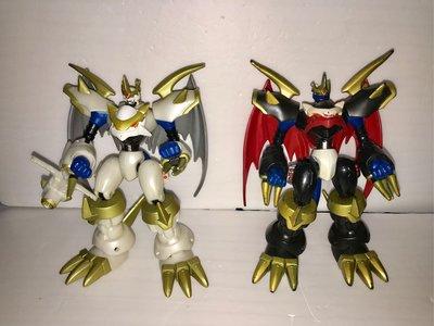 數碼暴龍 帝皇龍甲獸 白銀帝皇龍甲獸 Digimon Dreal Action Figure 2款 不散賣 中古