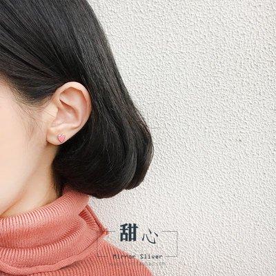 配飾耳環項鏈戒指小麋人可愛滴釉粉色愛心軟妹桃心S925純銀耳釘百搭配飾耳飾禮物女
