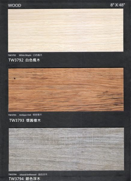 時尚塑膠地板賴桑~ 創意非凡37系列~ 大尺寸長條木紋塑膠地板~每坪2500元起(超耐磨款)