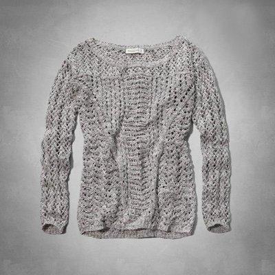 Maple麋鹿小舖 Abercrombie&Fitch * AF 灰色針織長袖毛衣 * ( 現貨S號 )