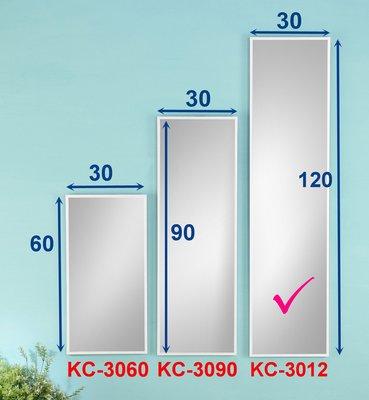 促銷 鋁框掛鏡/穿衣鏡/化妝鏡/全身鏡《 涵.館 》冰天使 120公分鋁框掛鏡KC-3012