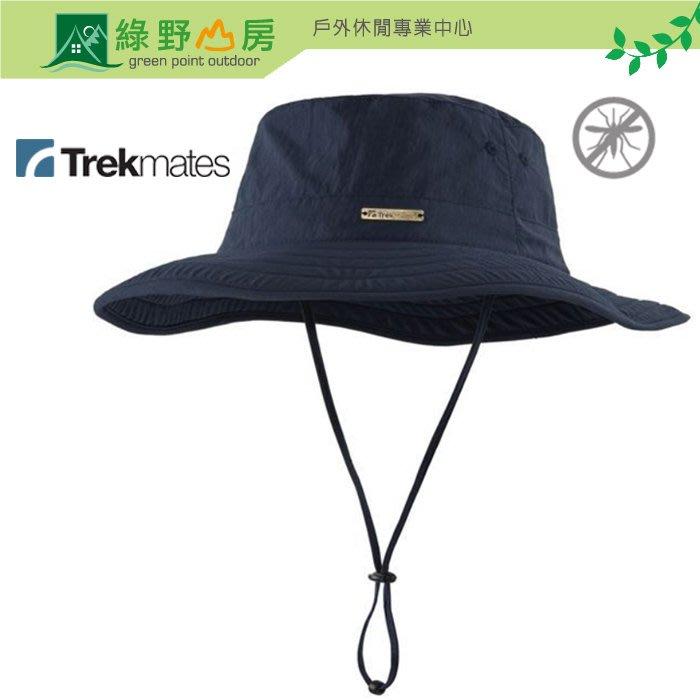 綠野山房》Trekmates GB 寬邊防蚊帽 Gobi Hat 遮陽帽 防曬帽 漁夫帽防蟲 海軍藍 TM-004015