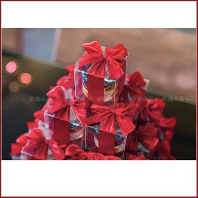 幸福朵朵【甜蜜蜜「透明盒裝」瑞士進口hero蜂蜜小禮盒 x 30盒 (紅色緞帶)-送客小禮婚禮小物