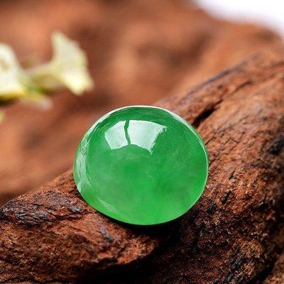 ☯玉玲瓏☯陽綠冰種翡翠蛋面裸石戒面玉石蛋面