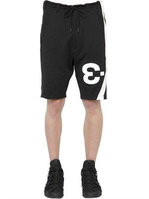 【ChicPop】Y-3 LOGO DETAIL COTTON JOGGING SHORTS褲子 男