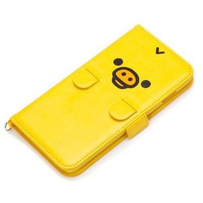 尼德斯Nydus~* 日本正版 拉拉熊 懶懶熊 翻頁皮套 手機殼 5.5吋 iPhone6+ plus 小黃雞 黃色小雞