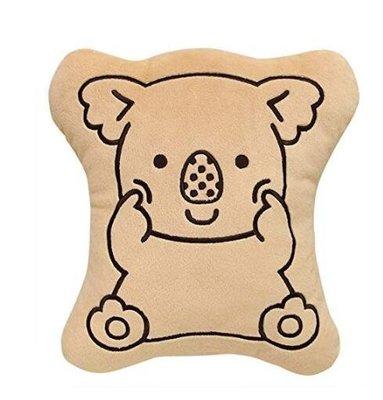正品樂天LOTTE小熊餅乾造型絨午休枕抱枕枕頭毛娃娃玩偶無尾熊動物擺件裝飾品   6919c
