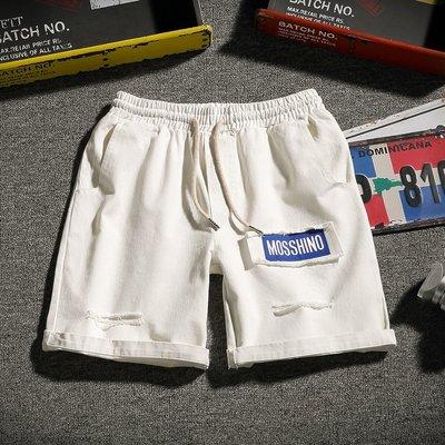 『折扣店』(842929)28-42吋有大碼 2018夏季彩色設計鬆緊抽繩薄款休閒短褲