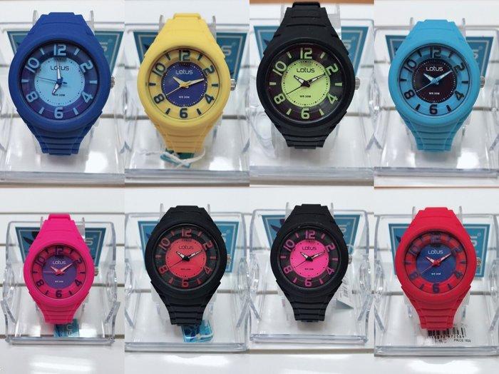 Lotus 撞色潮流 立體指針色彩系列女錶/37mm-8款色系-特價中
