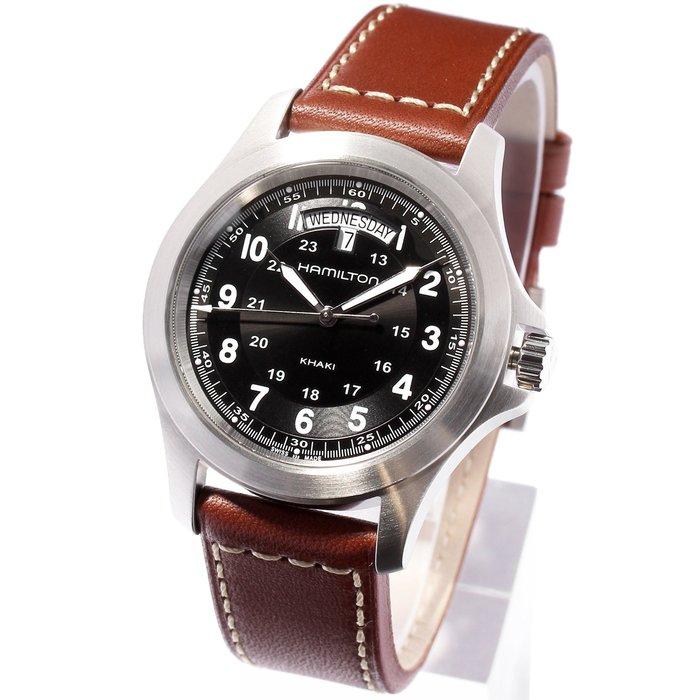 現貨 可自取 HAMILTON H64451533 漢米爾頓 手錶 40mm 卡其系列 黑面盤 皮錶帶 男錶女錶