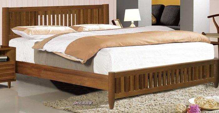 【DH】商品貨號N602-3品名稱《里亞》5尺雙人全實木床架。備有六尺。主要地區免運費