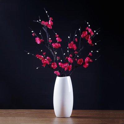 仿真盆栽 單支仿真花梅花假花干花束茶幾插花花藝家居飾品中式客廳裝飾擺件