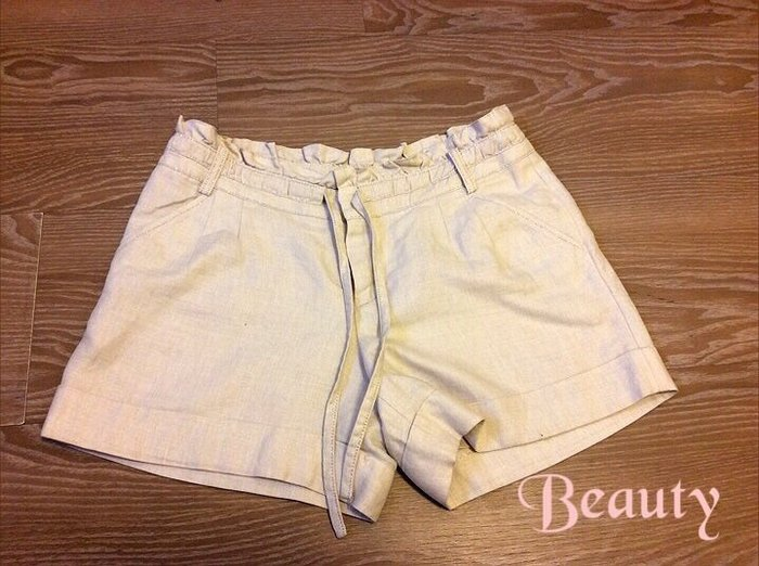 *Beauty*Apuweiser-riche卡其色束帶短褲 1號