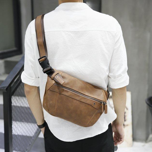 FINDSENSE 韓國男包 G6 男用休閒包 新款胸包男士大容量斜挎包運動包包休閒單肩包