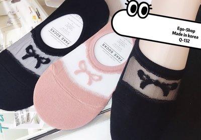 📣 下殺驚喜價59元💰EGO-SHOP%韓國空運女孩透蝴蝶結膚船襪.Q-132   哥吉拉 LED