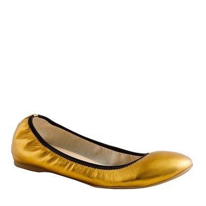 【美衣大鋪】 Jcrew☆ J.Crew 正品☆Lula metallic ballet flats義大利製美芭蕾娃娃鞋