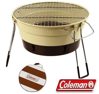 【山野賣客】Coleman CM-27318 棕色 收納型Packway烤肉爐 烤肉箱 桌上型燒烤爐 BBQ烤肉架 串燒