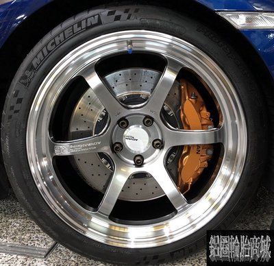 全新鋁圈 Yokohama 鍛造輕量化 正日本ADVAN R6 20吋 5孔114.3 超跑 深唇大內凹 GTR 實裝圖