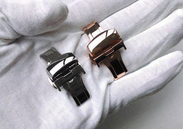手錶配件 表帶扣 不銹鋼扣 雙按/雙拉(單價不同) 摺疊扣 蝴蝶扣 金色 / 銀色