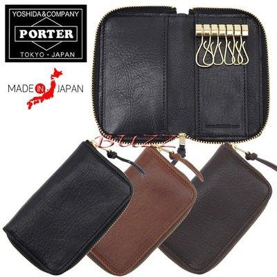 巴斯 日標PORTER屋- 三色預購 PORTER SOAK 牛革鑰匙包 101-06004
