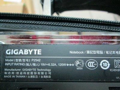 台中筆電維修:技嘉 GIGABYTE P2542 筆電開機無反應,開機斷電,顯卡故障花屏,面板變暗.泡水主機板維修