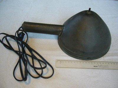 早期銅製船燈(1)~~探照燈~~重新接燈座.電線和插頭~~E27~~不含燈泡~~懷舊.擺飾.裝飾.道具