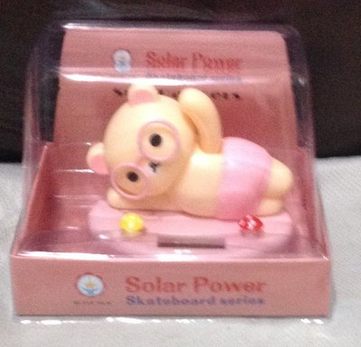 全新白熊太陽能可動玩偶