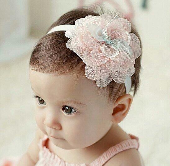 *ω*茱蒂*ω*  歐美韓國新款 新生兒嬰兒寶寶髮帶 女童公主拍照攝影 婚禮花童髮飾頭飾 / 紗花蕾絲頭帶髮帶